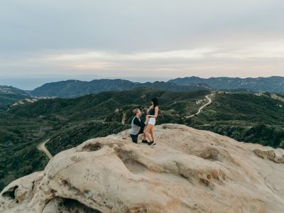 Yuri + Matt: Surprise Proposal in the Mountains: Los Angeles Wedding Photographer